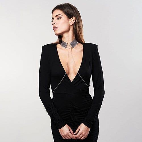 Desir Metallique - Mesh Collar Silver - Model
