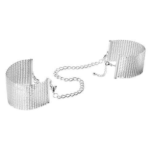 Desir Metallique - Metallic Mesh Hand Cuffs -Silver