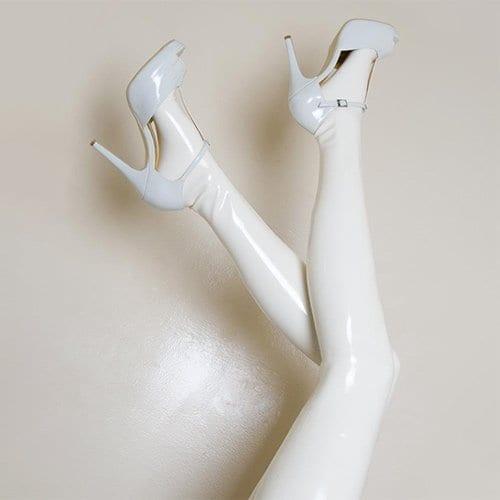 Latex Stockings White