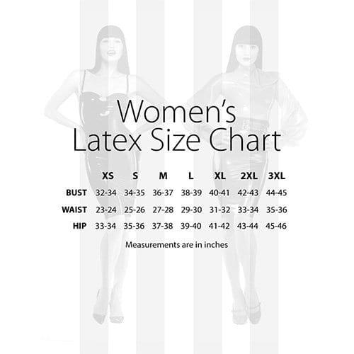Zippered Spanking Skirt Latex Size Chart