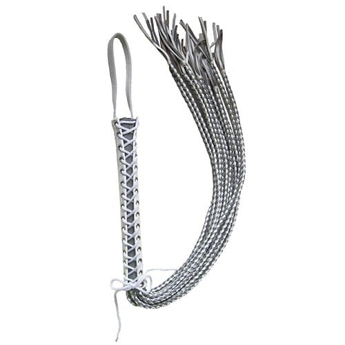 Corset Flogger (White and Grey)